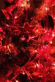 Decoración del árbol de navidad en rojo — Foto de Stock