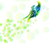滑らかな抽象的な蝶の背景 — ストックベクタ