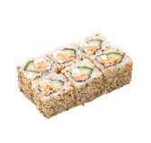 Rollo de sushi aislado en blanco — Foto de Stock