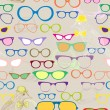 Seamless background with color eyeglasses - Stock Vector
