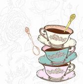 Fondo de taza de té — Vector de stock