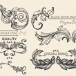 Vector set: calligraphic design elements and page decorations — Stock Vector