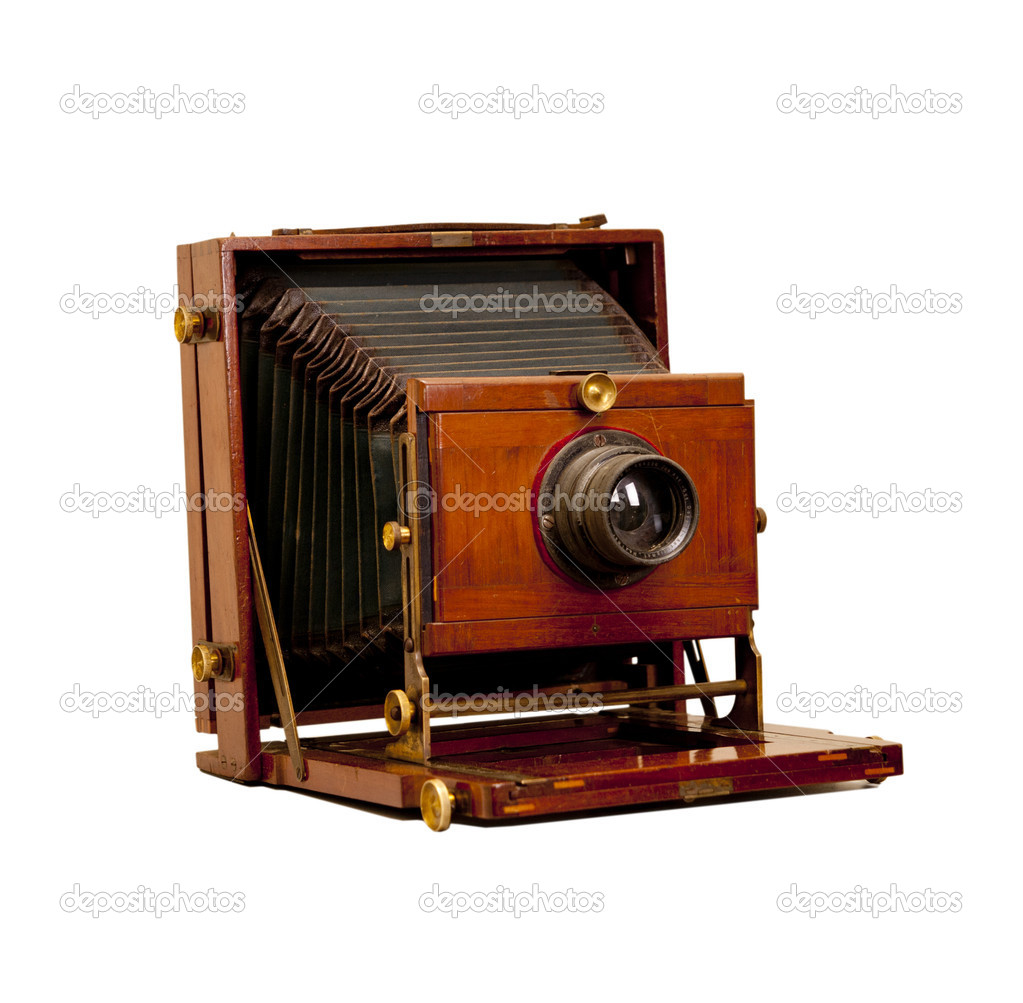 Retro camera isolated on white — Stock Photo #10678234
