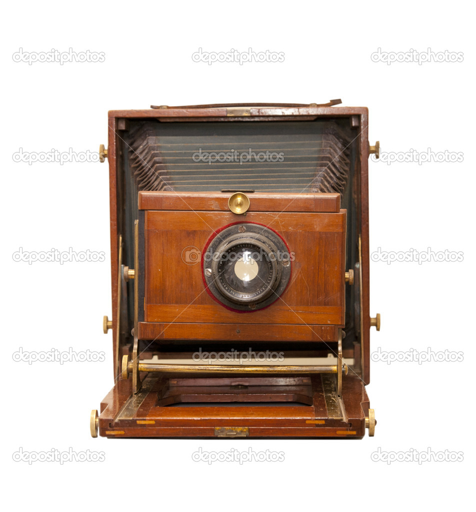 Retro camera isolated on white — Stock Photo #10678239