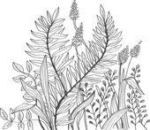Romantische doodle bloem achtergrond — Stockvector