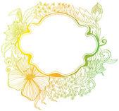 Ρομαντικό ζωηρόχρωμο λουλούδι φόντο — Διανυσματικό Αρχείο