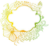 Plano de fundo colorido de flor romântica — Vetor de Stock