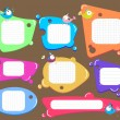 Speech bubbles set, color — Stock Vector
