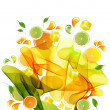 Orange, lemon and lime juice splash - Stock Vector