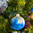 Christmas Tree background with toys — Stock fotografie