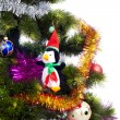 Royalty-Free Stock Photo: Christmas Tree background with different toys