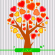 Abstract Valentine heart tree — Stock Vector