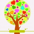Abstract Valentine heart tree — Vektorgrafik