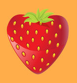 Strawberry heart — Stock Vector