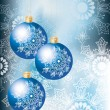 Royalty-Free Stock Vector Image: Elegant Christmas background with bluel decoration balls