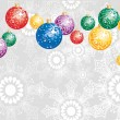 Royalty-Free Stock Vector Image: Elegant Christmas background with colorful decoration balls