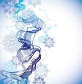 Abstrakt mit schneeflocken — Stockvektor