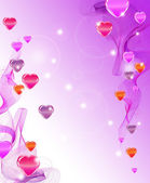 Beautiful abstract background with hearts — Cтоковый вектор