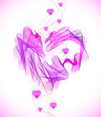 Valentines pink abstract heart — Stock Vector