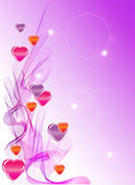 Valentine's background with hearts — Vector de stock