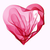 Beautiful Valentine's background with abstract heart — Stock vektor