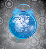 Elegant New Year background with clock — Stock Vector