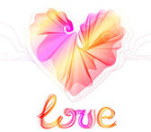 Beautiful Valentine's background with abstract heart — Cтоковый вектор