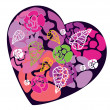 Royalty-Free Stock Vector Image: Heart with roses