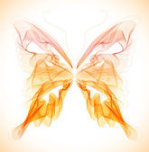 Smooth colorful abstract butterfly — Vector de stock