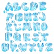 Royalty-Free Stock Vector Image: Cute glossy blue alphabet