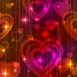 Valentine background with hearts — 图库矢量图片