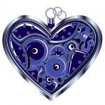 Mechanical Valentine heart — Stock Vector #8353853