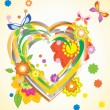 Royalty-Free Stock Imagen vectorial: Colorful Valentine background