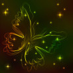 bunte abstrakte Schmetterling über dunkel — Stockvektor