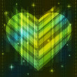 Green abstract heart — Stockvektor