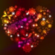 Royalty-Free Stock Imagen vectorial: Floral bright Heart