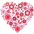 Royalty-Free Stock Imagen vectorial: Floral pink Heart and butterfly