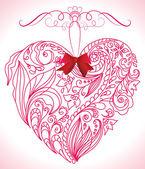 Beautiful floral heart — Stock Vector