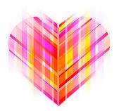 Rosa und rote abstrakte herzen — Stockvektor