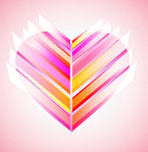 Pink and red modern abstract heart — Stock Vector