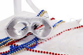 Carnival silver Mask — Stock Photo