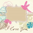 Royalty-Free Stock Vector Image: Valentine light brown background with label