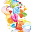 Royalty-Free Stock Imagen vectorial: Valentine background with sweets, fruit, berries and love