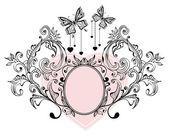 Fondo floral San Valentín — Vector de stock