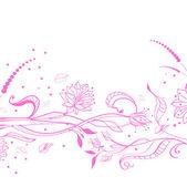 Fondo floral rosa — Vector de stock