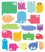 Set of color funny labels — Stock Vector