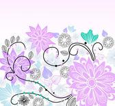 Vacker ljus blommig illustration — Stockvektor
