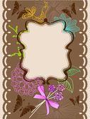 Floral card for holiday — Stockvektor