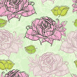 Seamless pattern with rose — Stock Vector