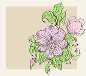 Krásné pozadí withl květiny — Stock vektor